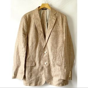 Brooks Brothers 1818 Fitzgerald 100% Linen Jacket